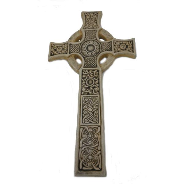 "Celtic St. John's Cross Isle of Iona by McHarp 15"" high"