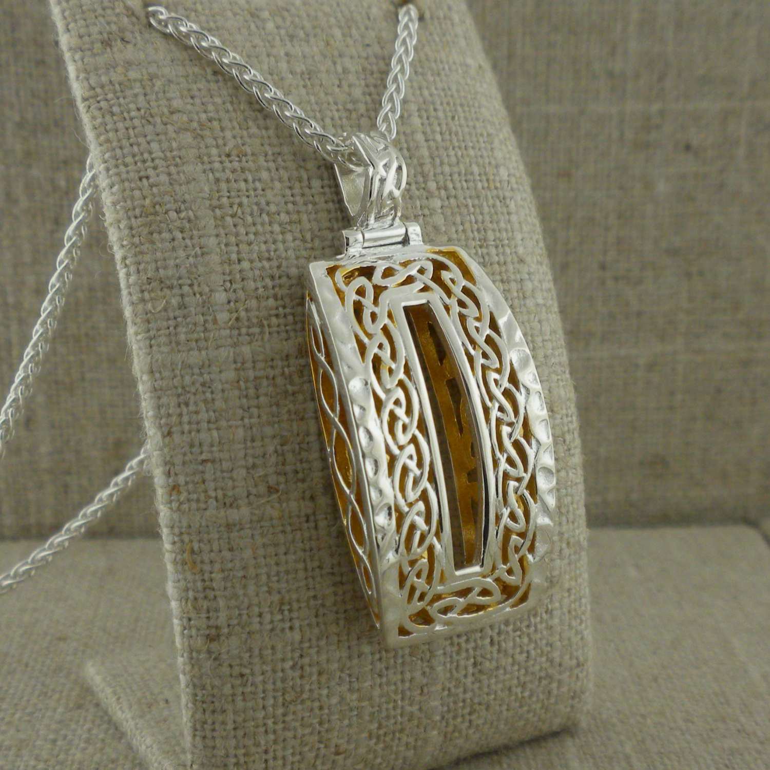 Long Celtic Window to the Soul Pendant