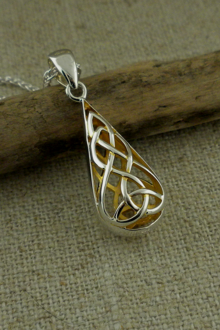 Double Sided Trinity Knot Pendant