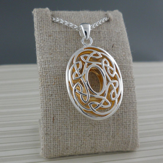 Oval Celtic Window to the Soul Pendant