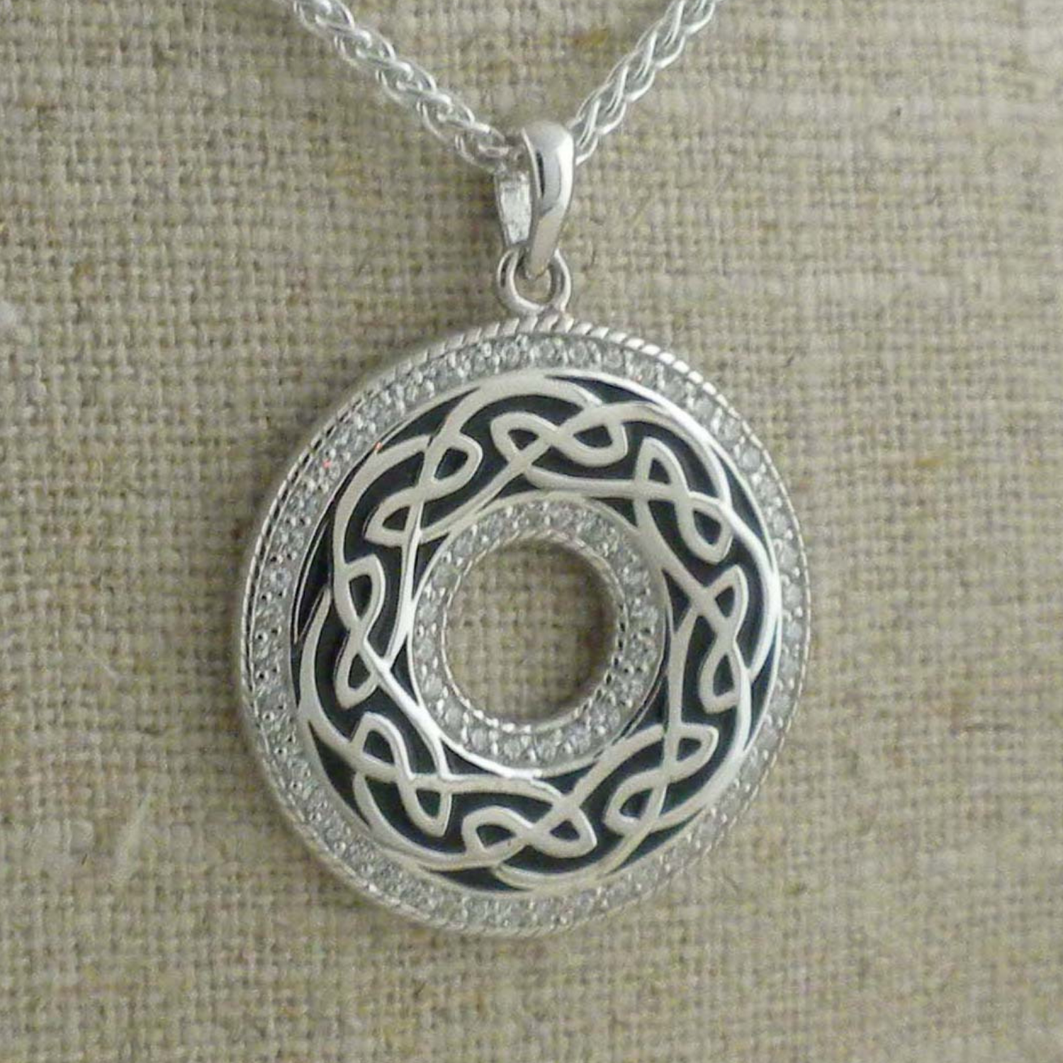 Round Celtic Window to the Soul Pendant