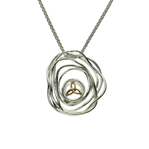 Cradle of Life Pendant with 10K Trinity Knot