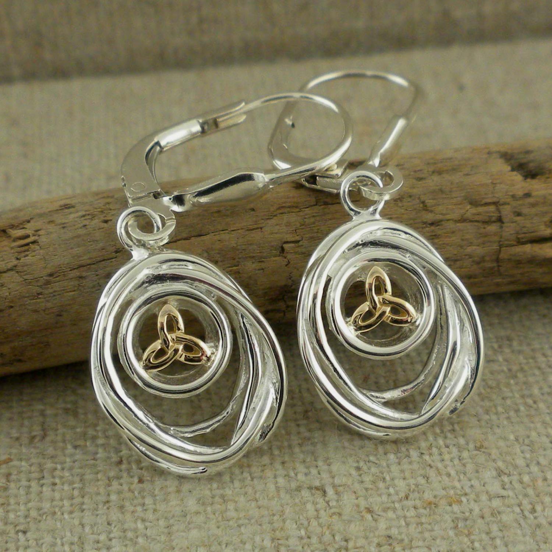 Dangle Celtic Cradle of Life Earrings