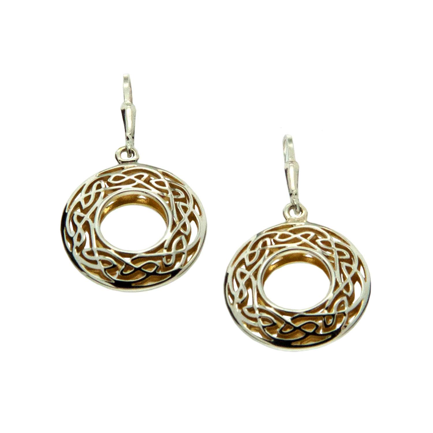 Celtic Window to the Soul Small Round Earrings