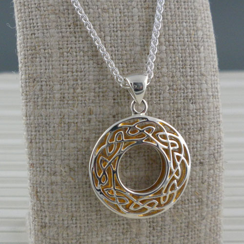 Celtic Window to the Soul Small Round Pendant
