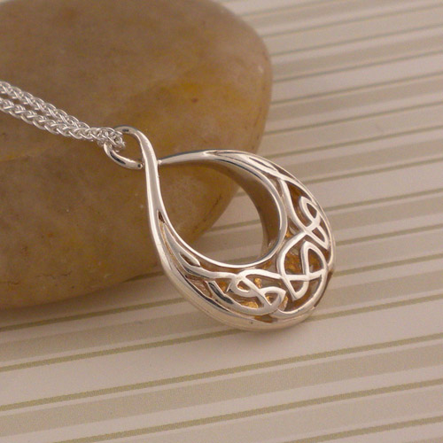 Celtic Window to the Soul Teardrop Pendant