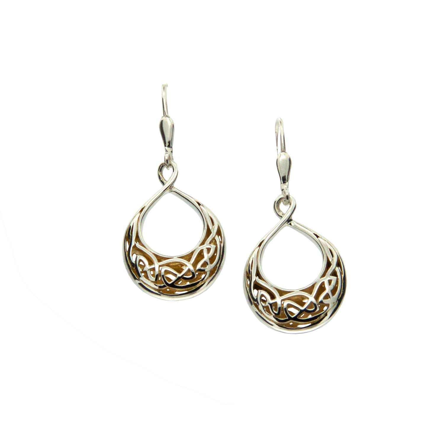 Celtic Window to the Soul Teardrop Earrings