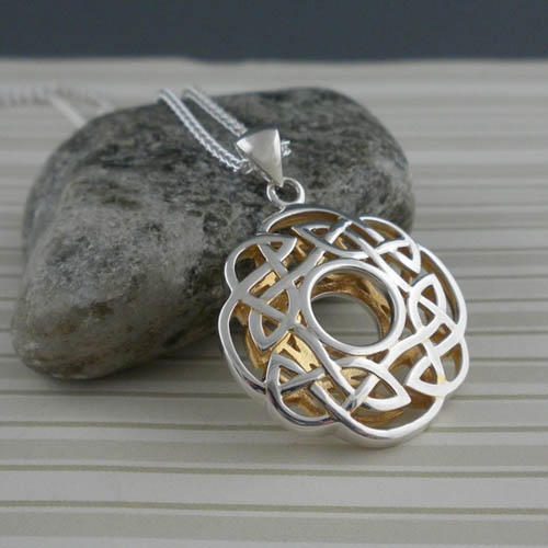 Keith Jack's Round Celtic Window to the Soul Pendant