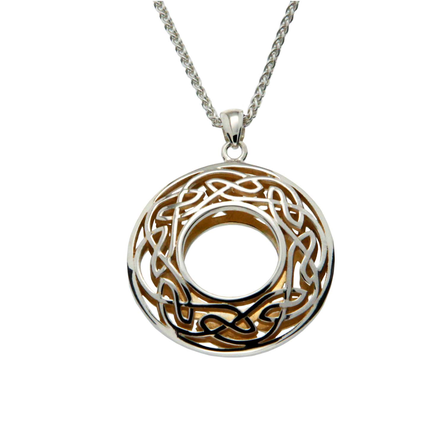 Celtic Window to the Soul Large Round Pendant by Keith Jack