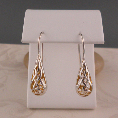 Window to the Soul Trinity Knot Earrings