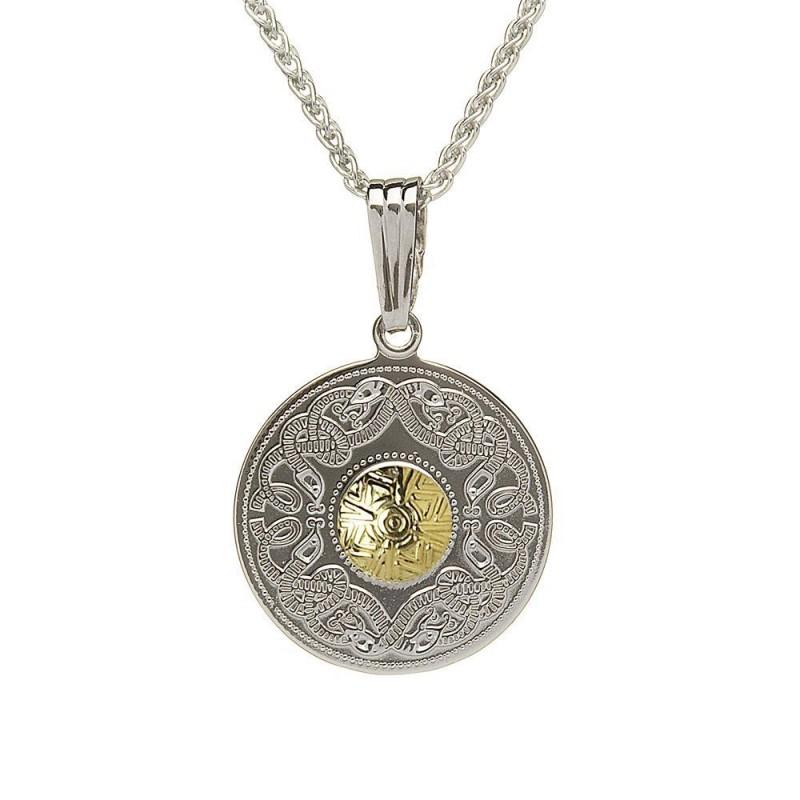 Medium Celtic Warrior Pendant with 18K Gold Bead