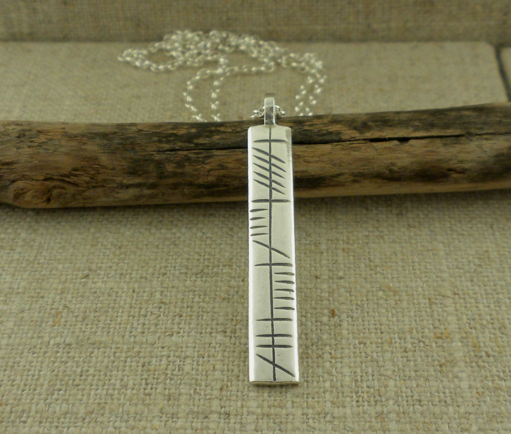 Sterling Silver My Soul Mate Ogham Pendant