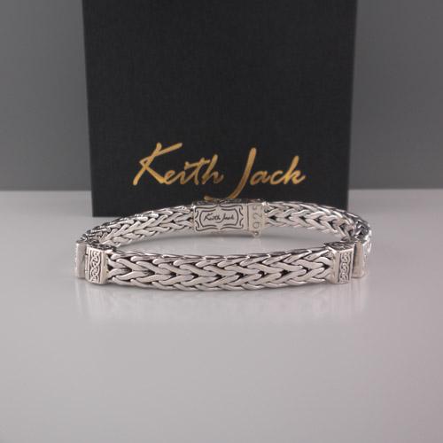 Flat Dragon Weave Bracelet with Hinges