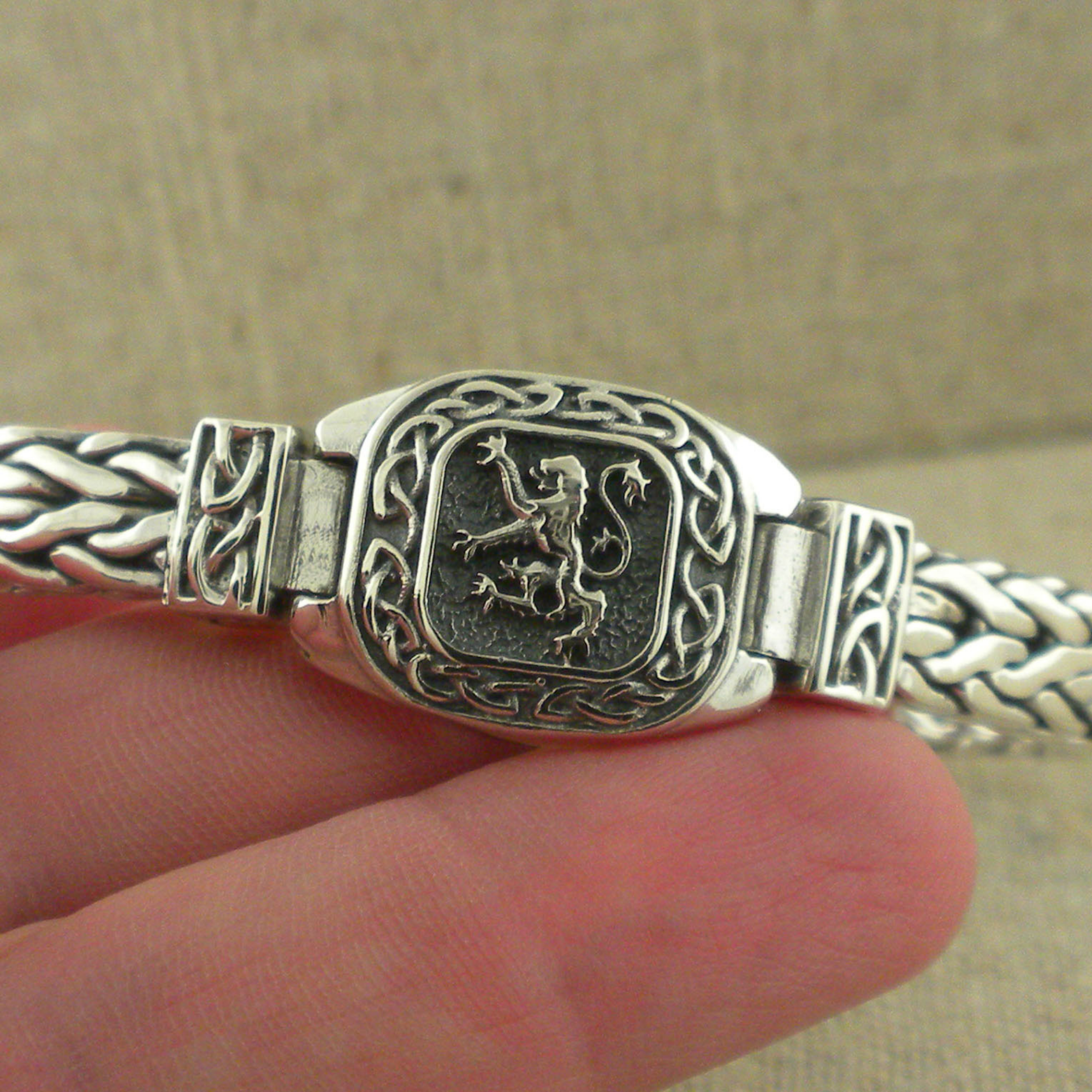Scottish Lion Hinged Bracelet