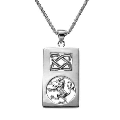 Sterling Silver Celtic Knot and Scottish Rampant