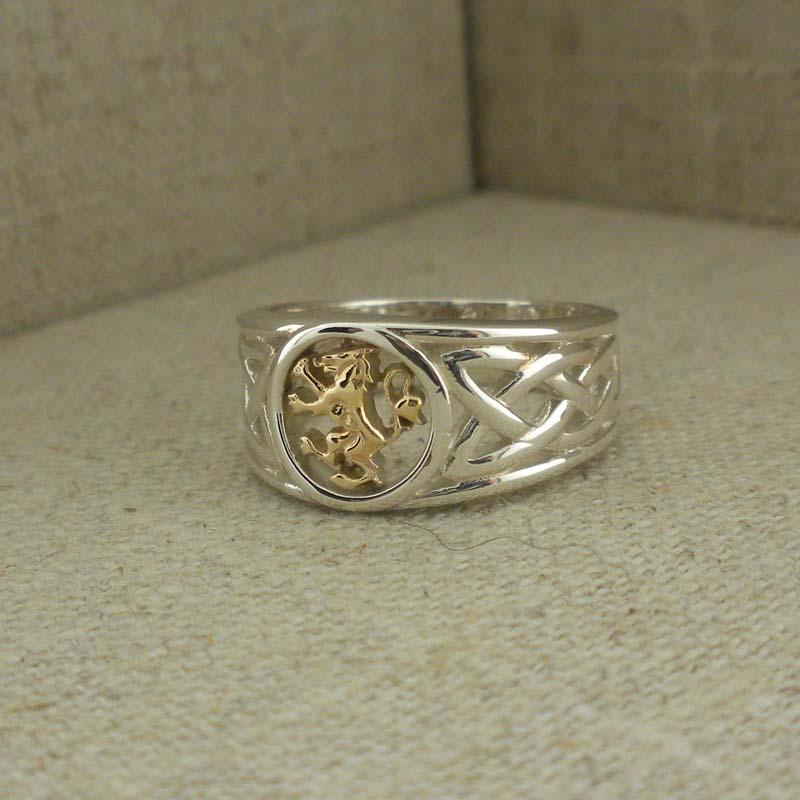 Sterling & 10K Scottish Rampant Ring