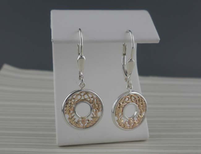 Thistle & Celtic Knot Earrings