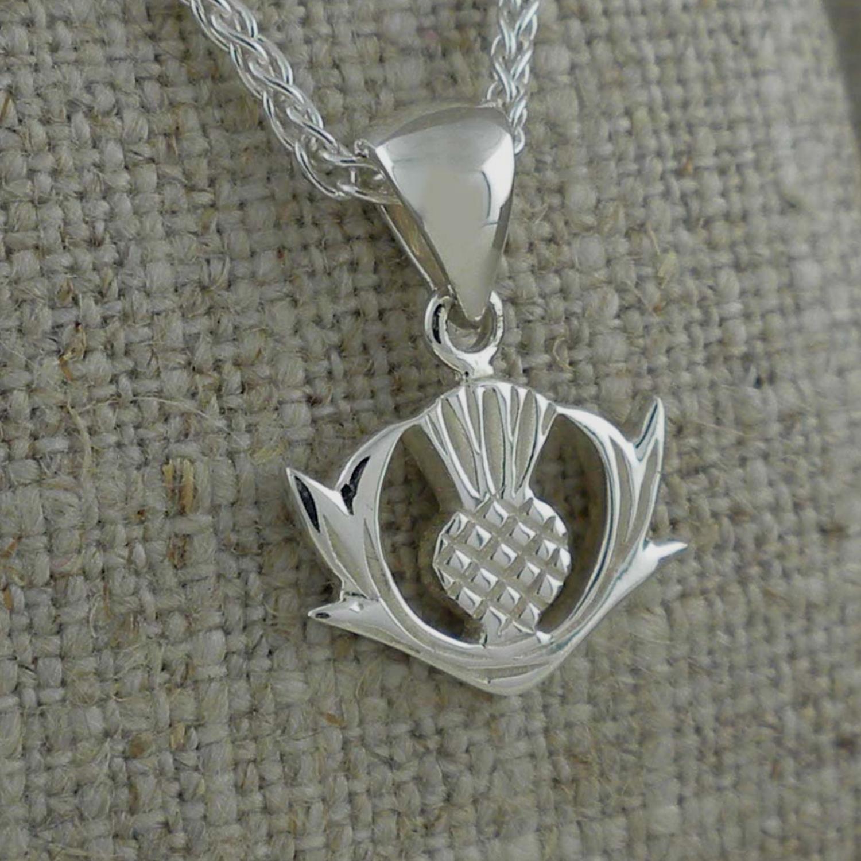 Sterling Silver Scottish Thistle Pendant