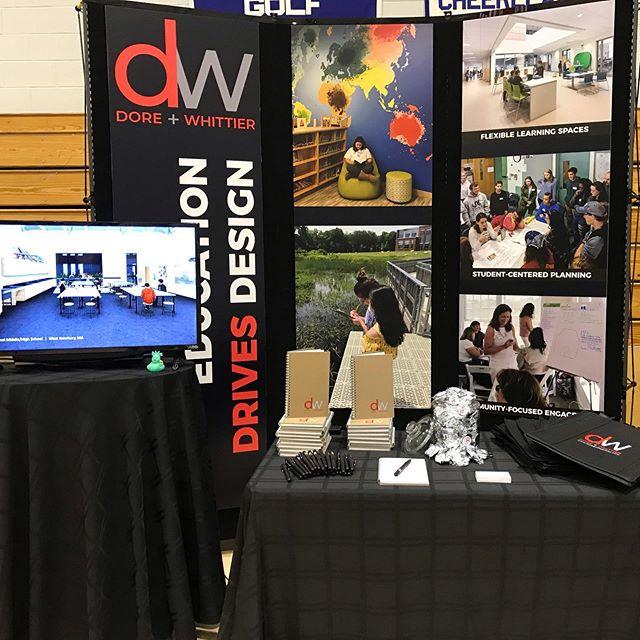 D+W is ready for the MASS Superintendents!  Education drives design!  #schooldesign #masssuperintendents #kidsdeserveit #doreandwhittier #wedesignschools #educationdrivesdesign