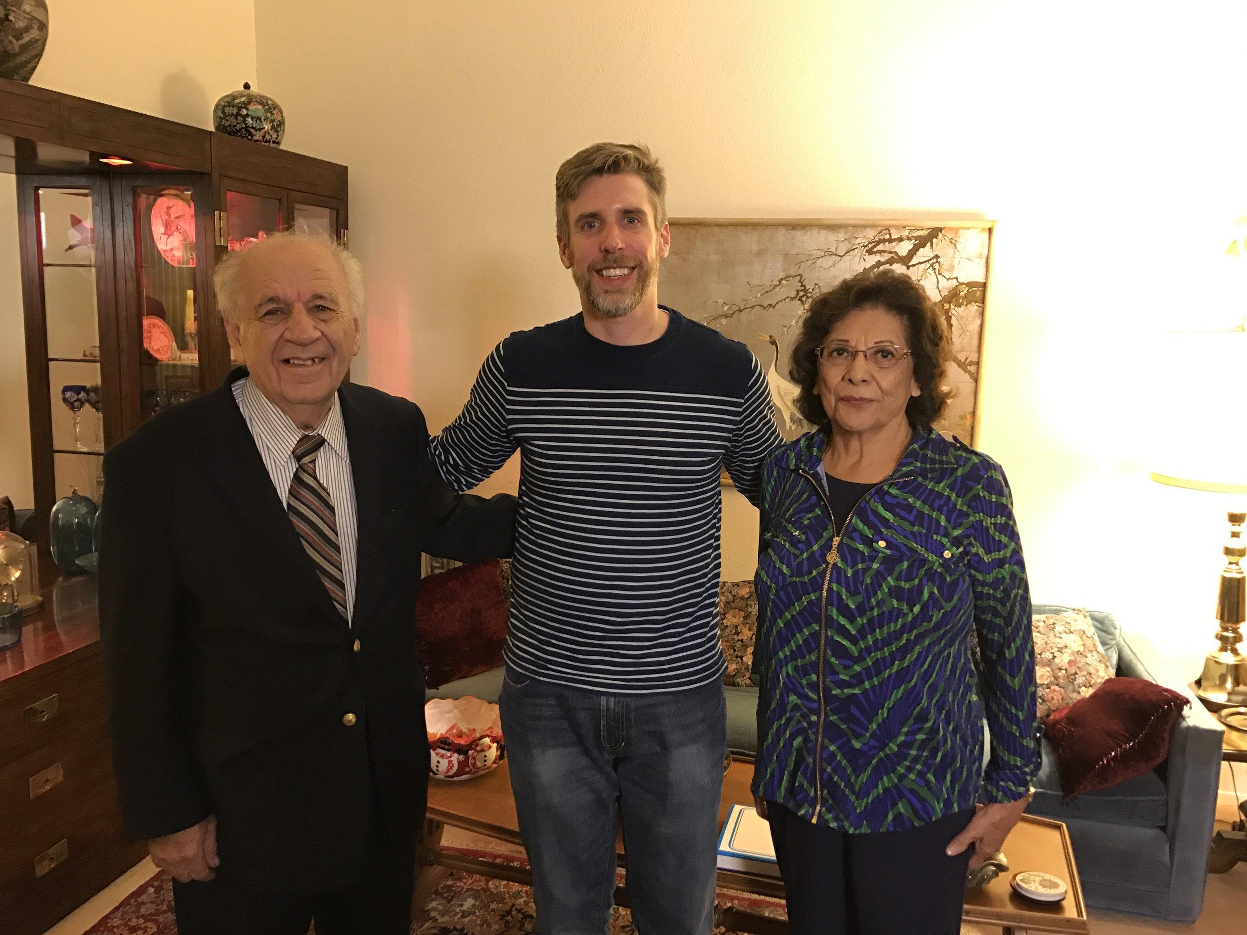 Drew Money with Jalal and Mary Salihi