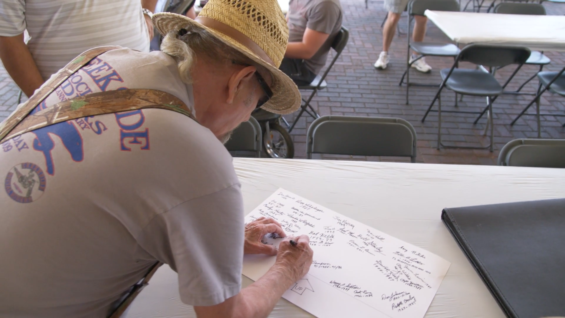 Numerous former Norwood employees signed the poster signature panel on August 26th