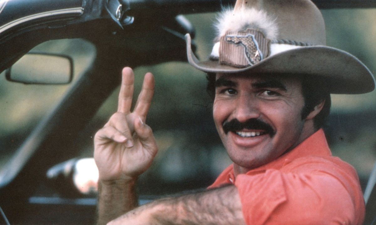 "Burt Reynolds as Bo ""Bandit"" Darville in a Smokey and the Bandit II promotional photo."