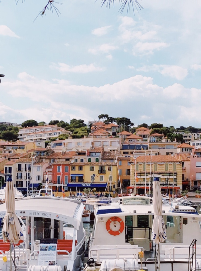 Charming Cassis, with as many french tourists as there were boats.