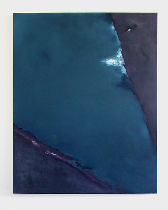 Untitled (breakaway), 2014, oil on canvas, 64 x 52 inches