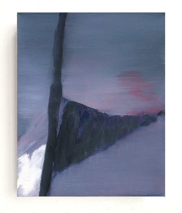 Untitled (storm), 2013, oil on canvas, 10 x 8 inches