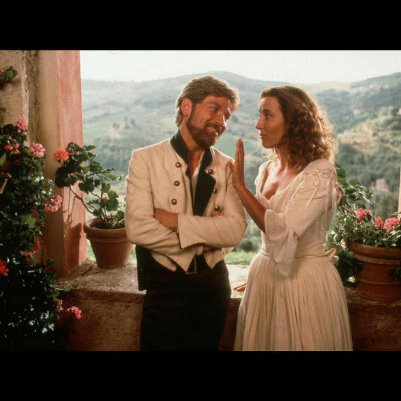 Emma Thompson and Kenneth Branagh as Beatrice and Benedick. Sybill Trelawney was hot, y'all.