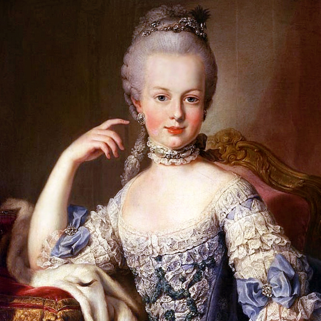 Marie Antoinette age 12 (what?!), portrait by Martin van Meytens