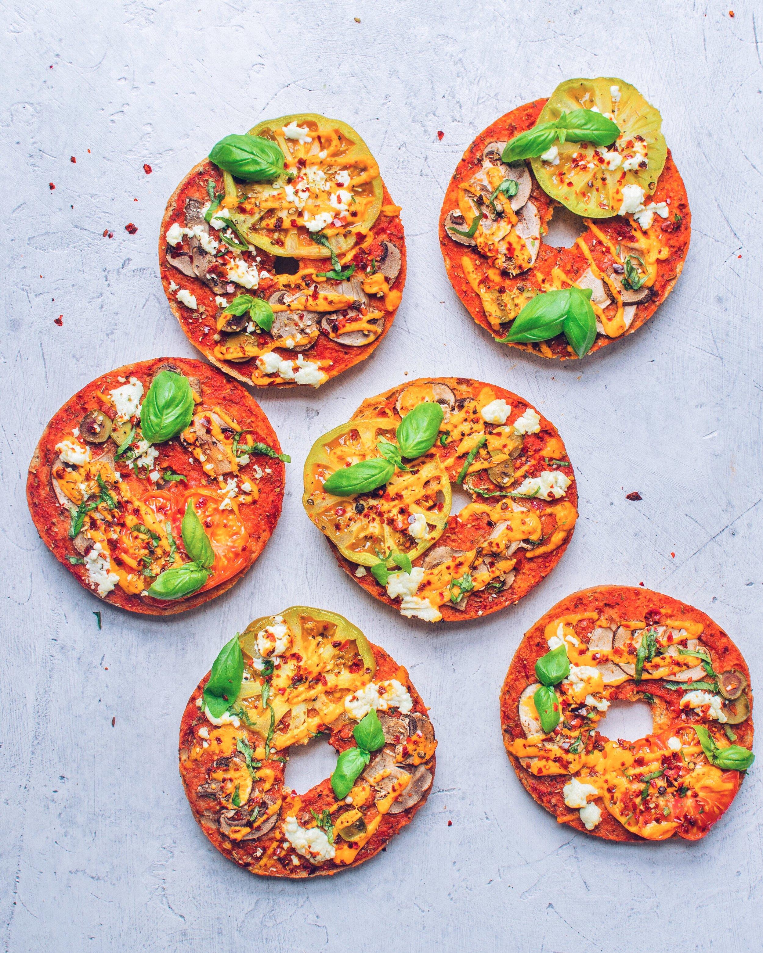 Pizza Bagels - Vegan