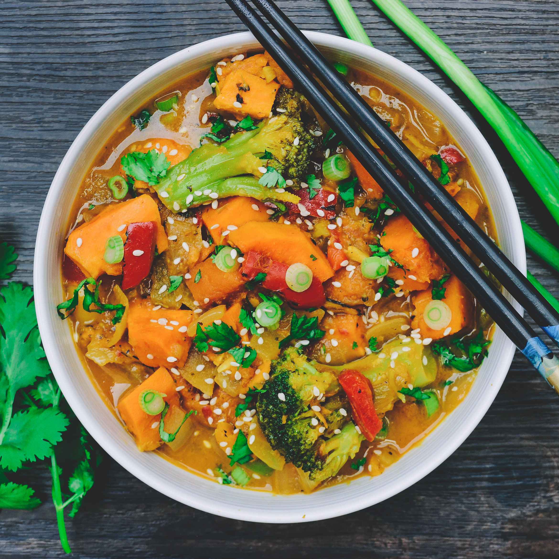 Thai Coconut Curry - Vegan, Gluten-Free, Paleo