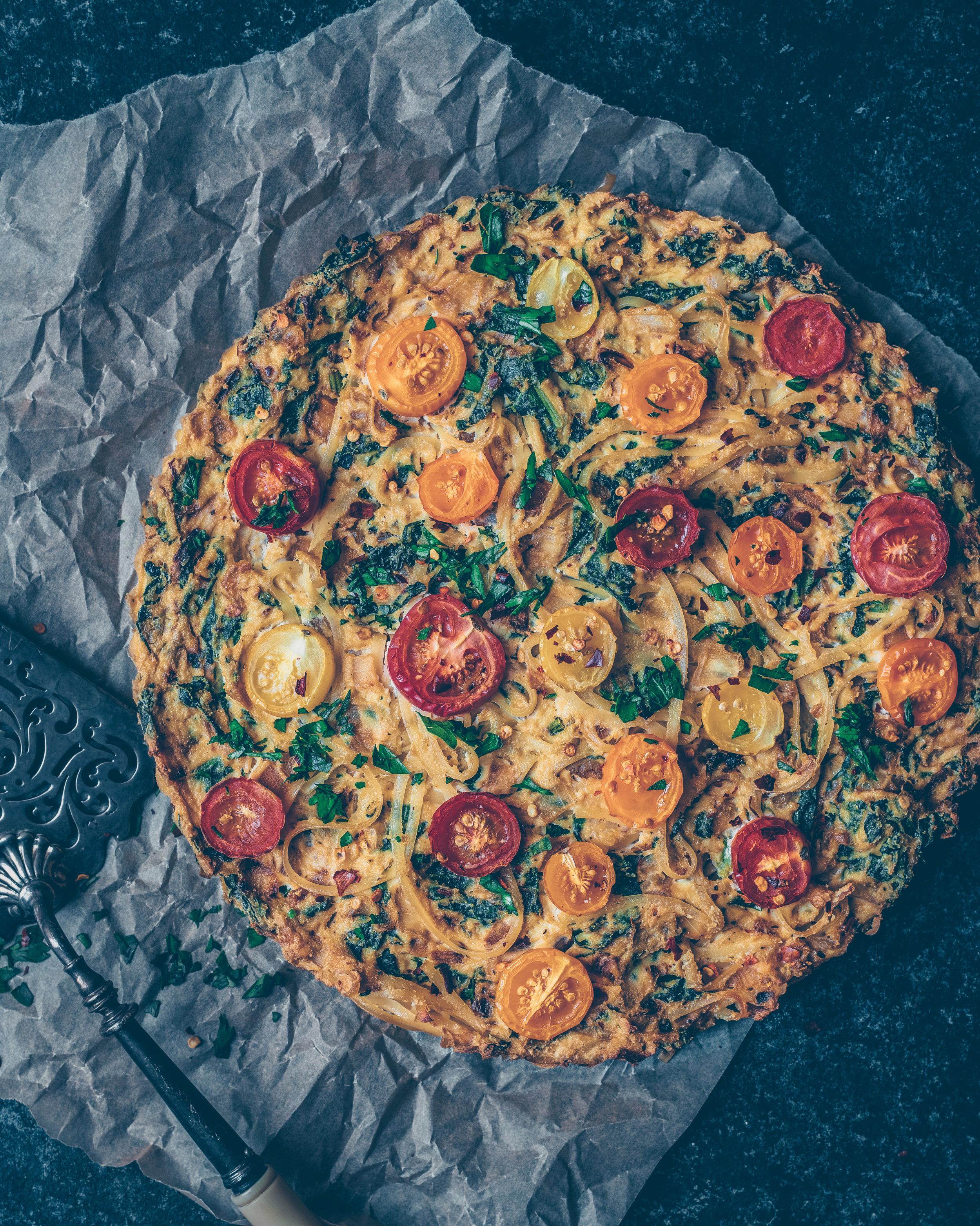 Pasta Quiche - V
