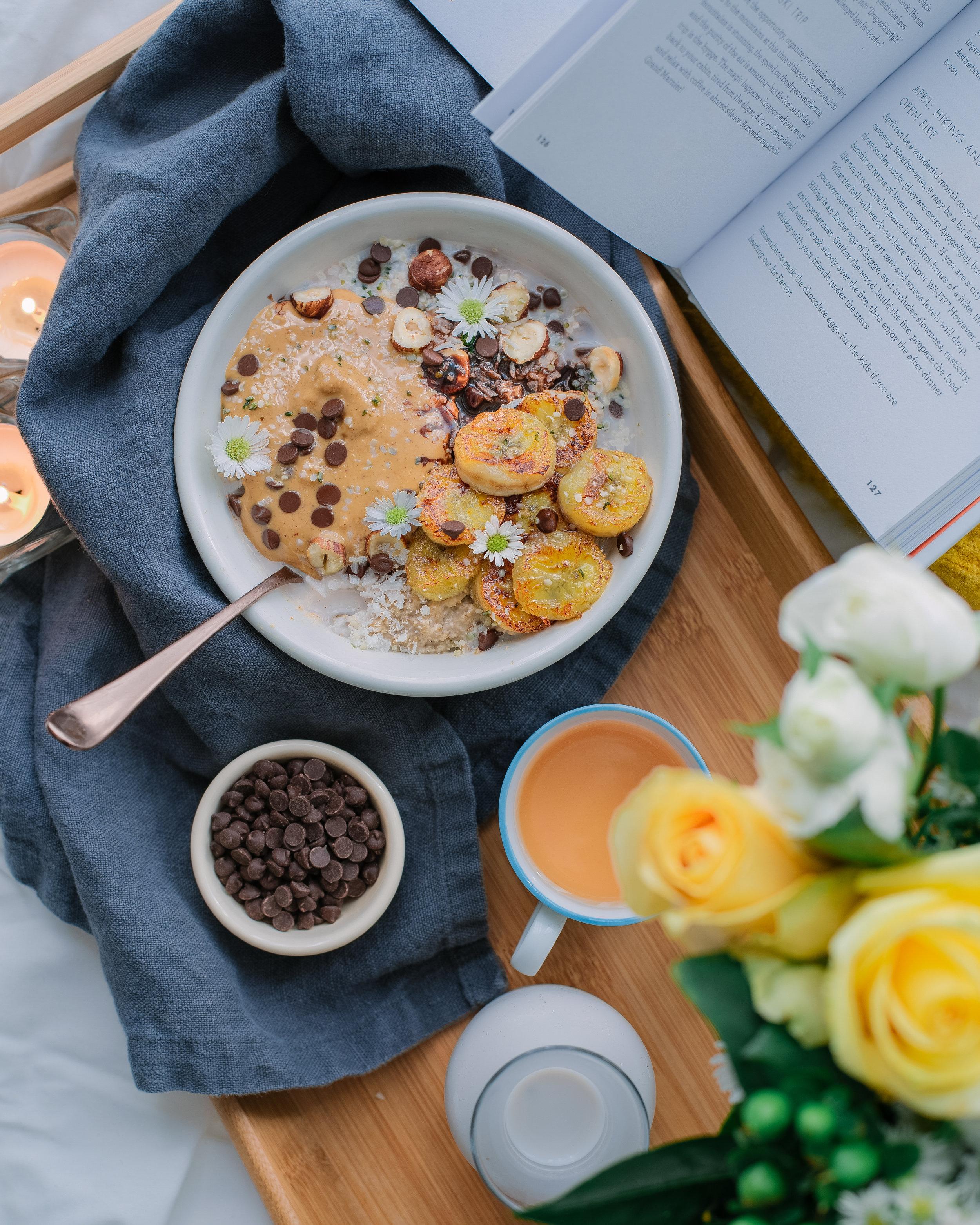 Caramelized Banana Porridge - V, GF