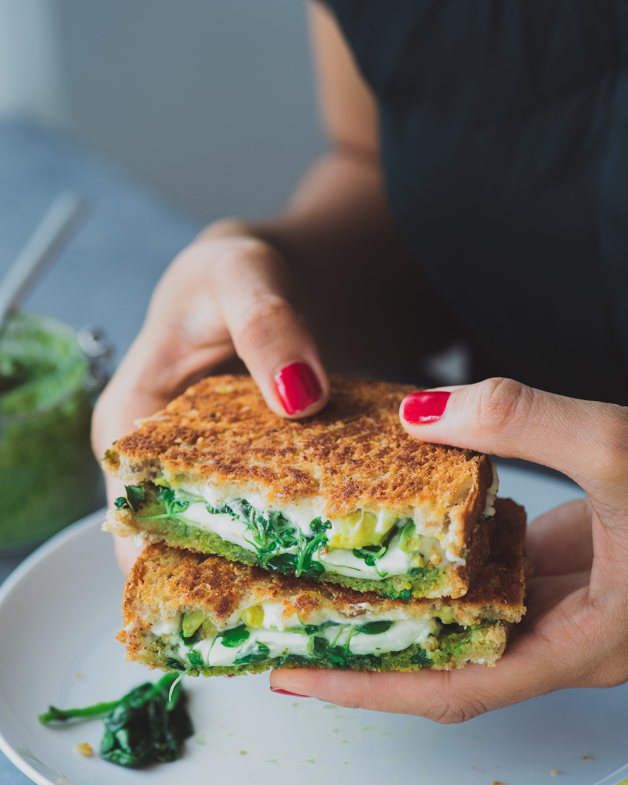 Green Goddess Grilled Cheese - V