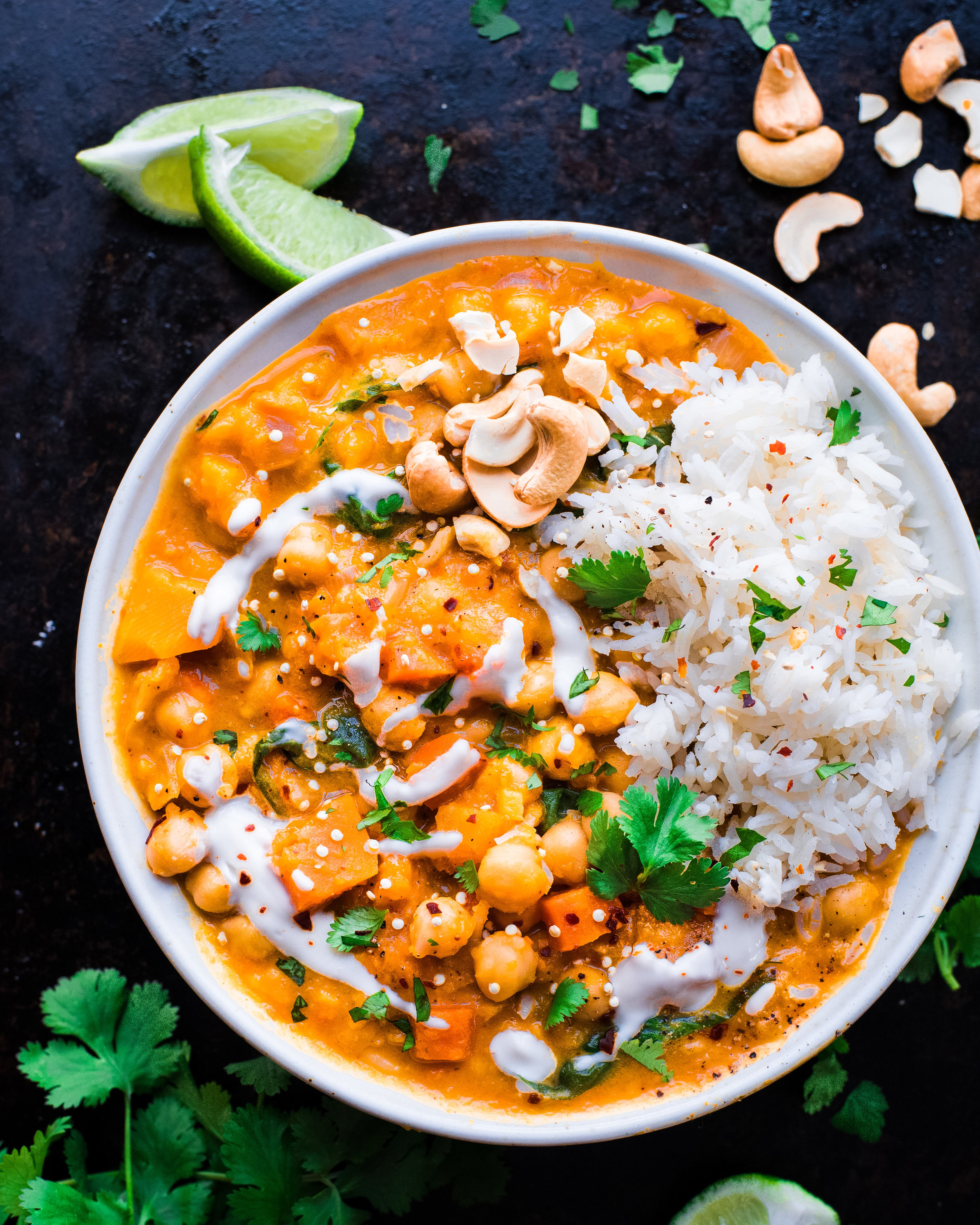 Thai Butternut Squash Chickpea Curry