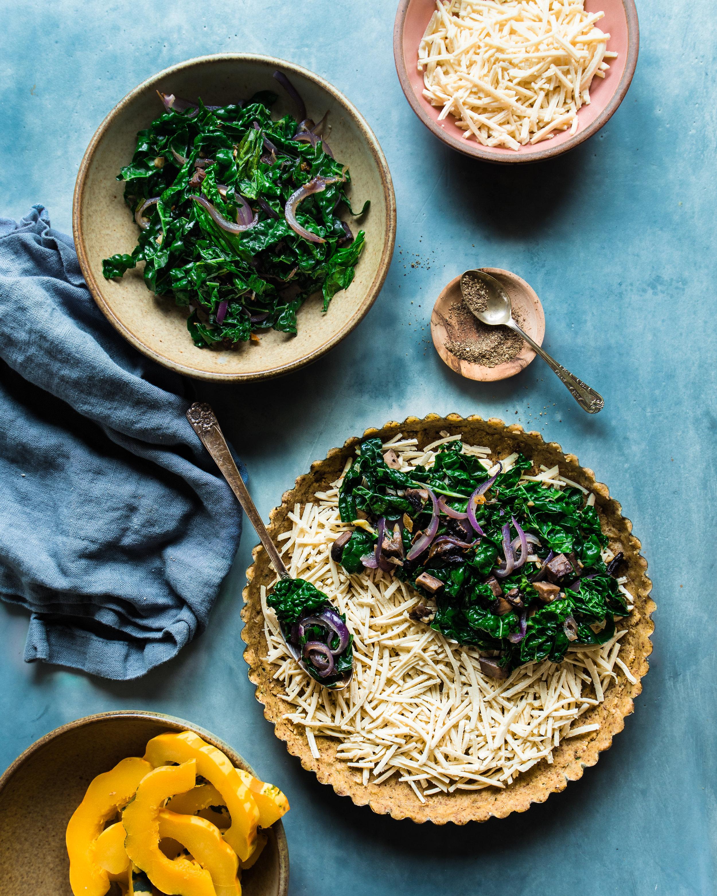 squash kale tart ingredients spoon of kale (1 of 1).jpg