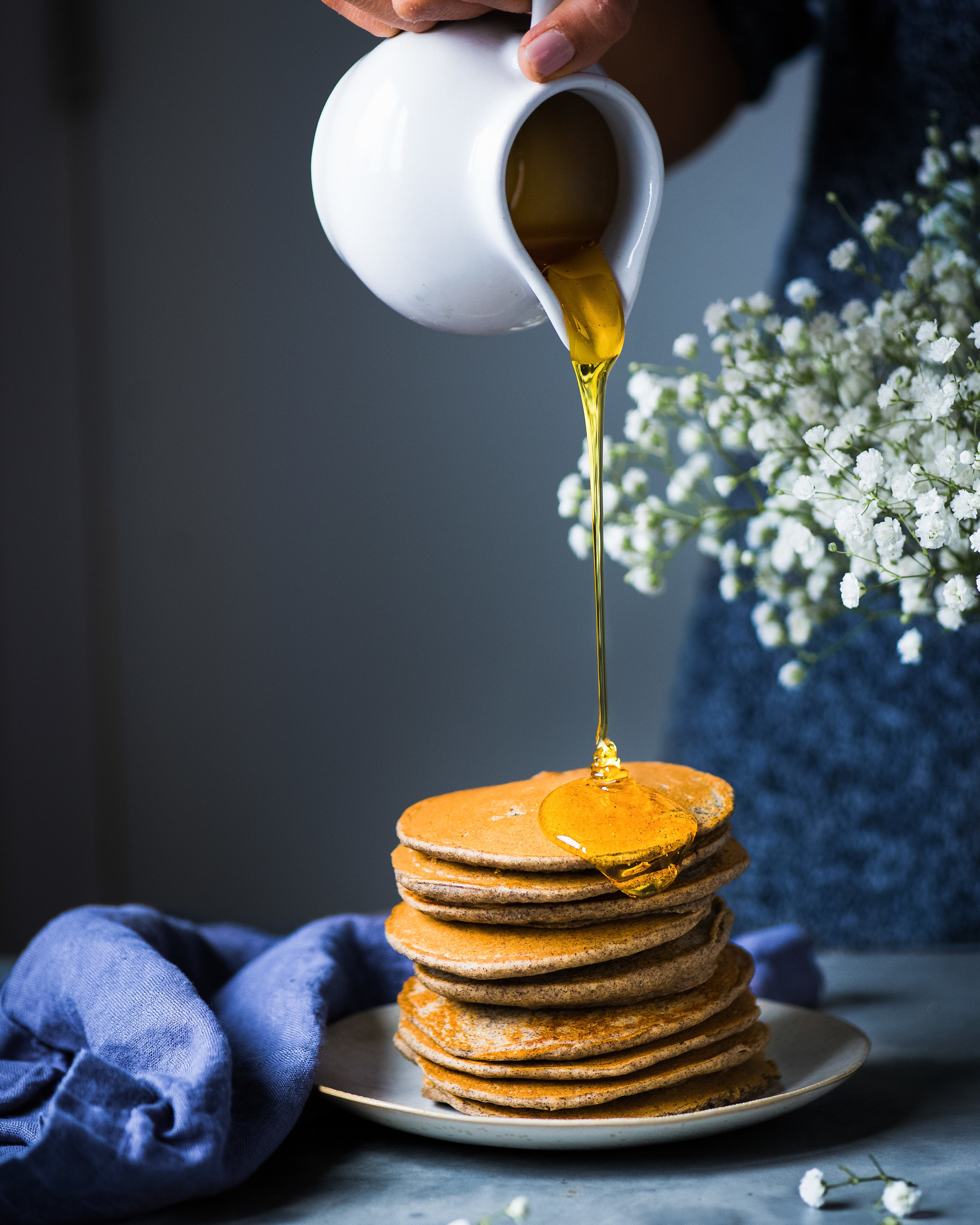 Quinoa Buckwheat Pancakes - V