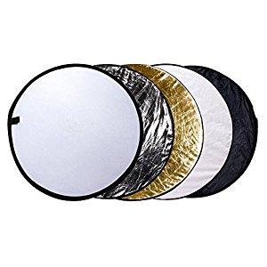 5-in-1 Photo Reflectors - the reflectors I use to brighten or darken photos