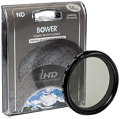 Bower Variable Neutral Density Filter (58mm) - the filter i use on my 50mm camera when to block out light when it's too bright outside