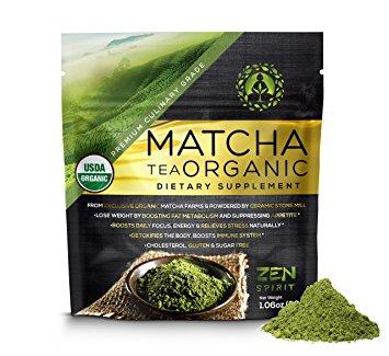Organic Matcha Powder - culinary-grade matcha powder for matcha tea, lattes, and smoothies