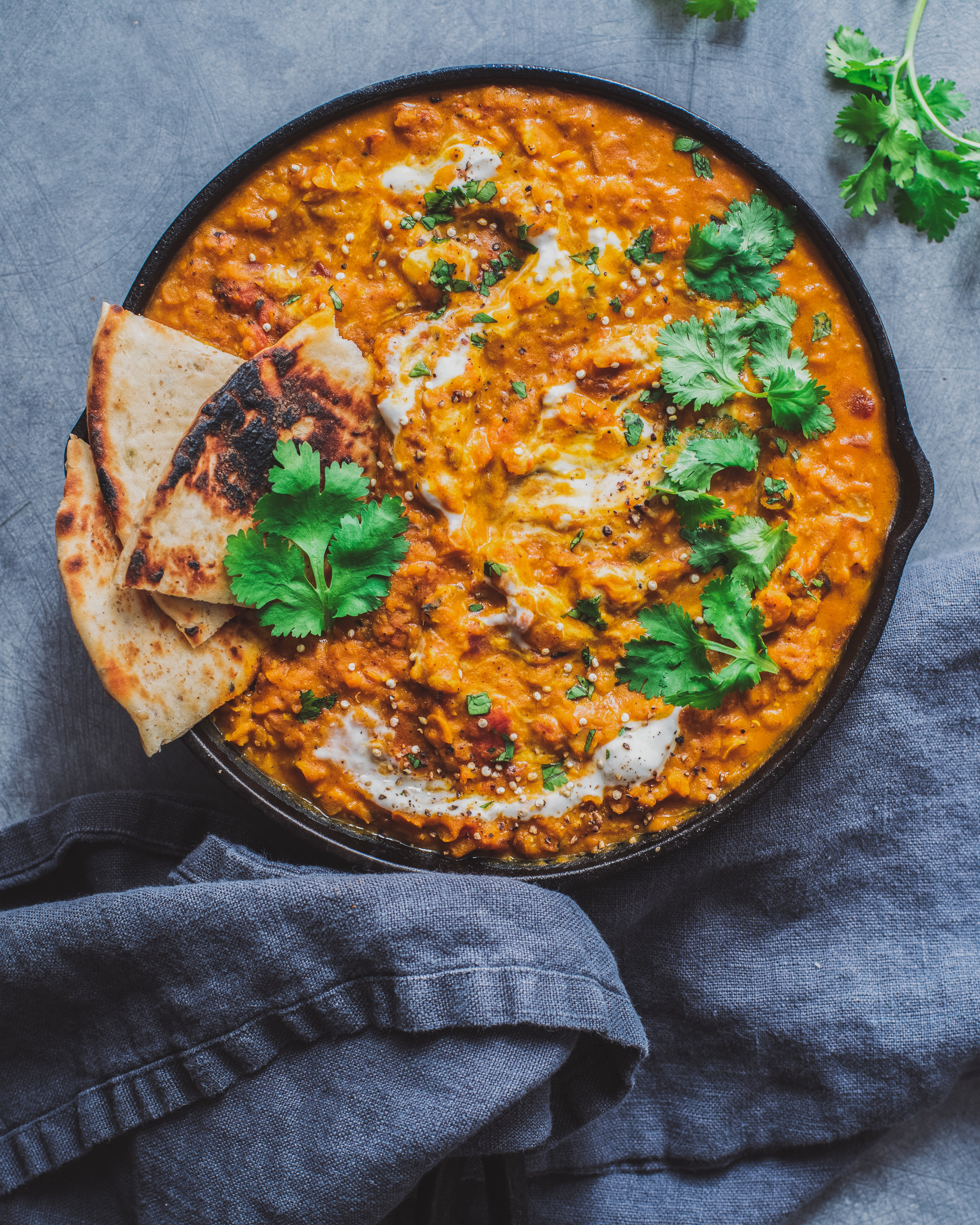 Red Lentil Almond Curry