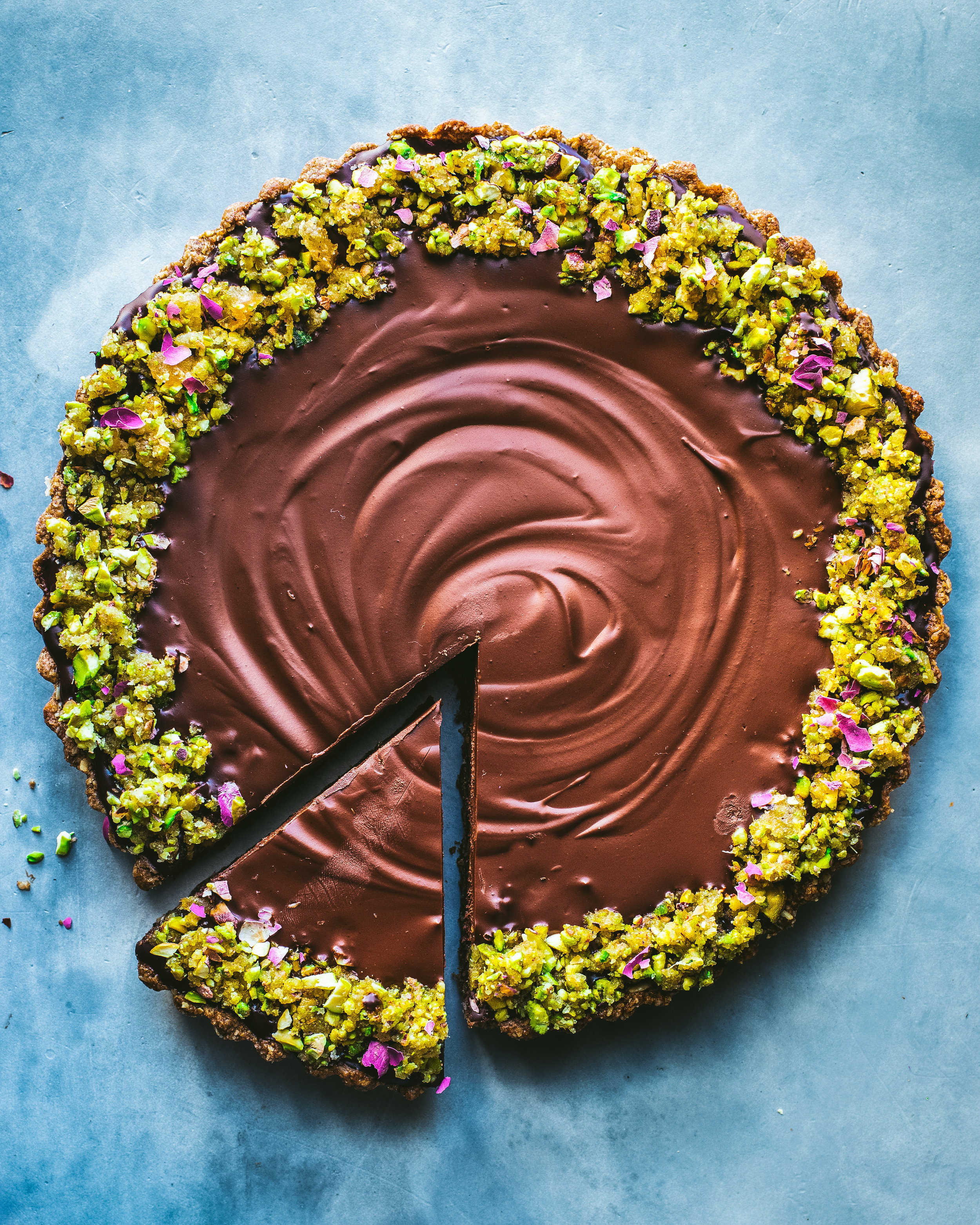 Dark Chocolate Ginger Tart