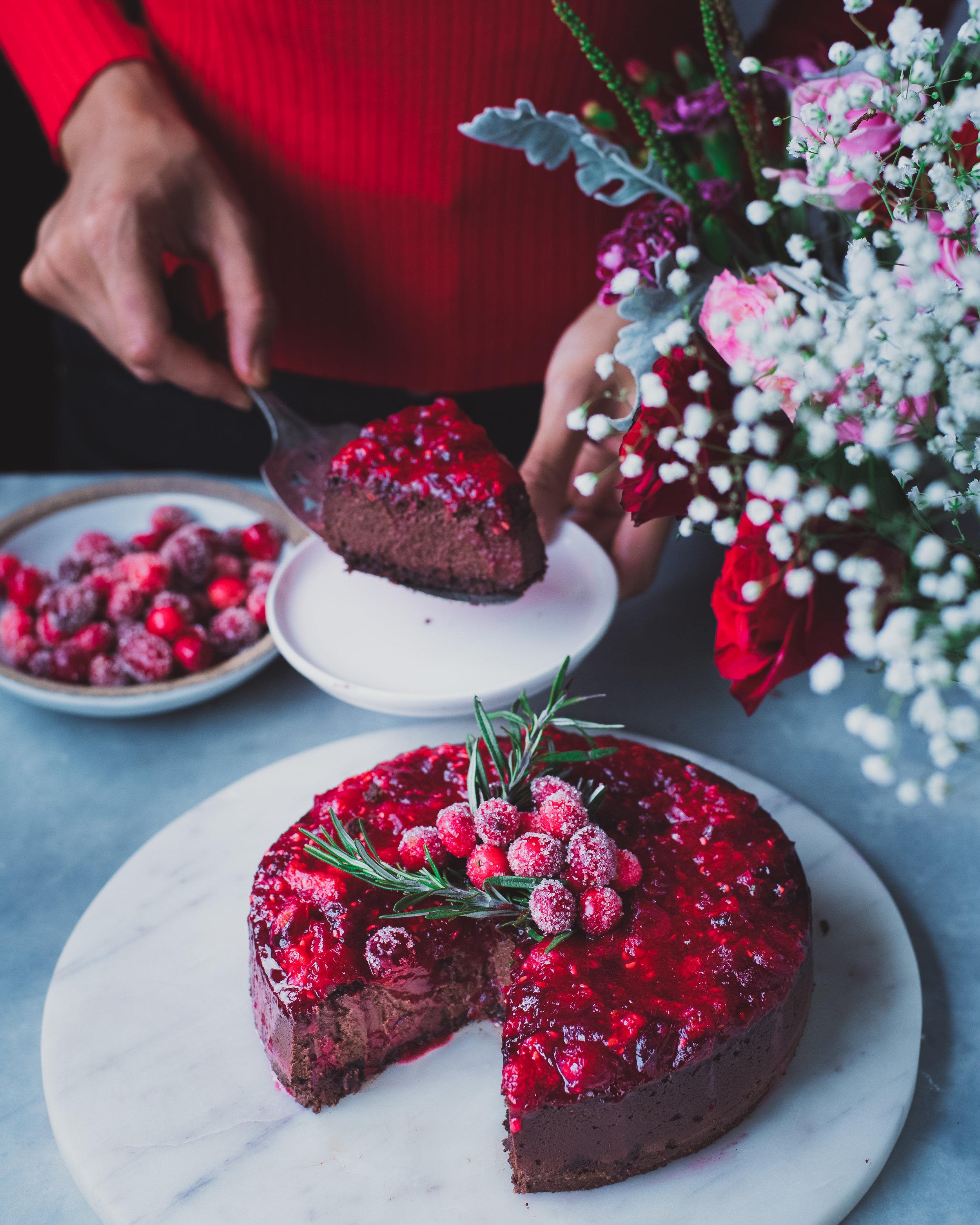 Baked Vegan Chocolate Cheesecake