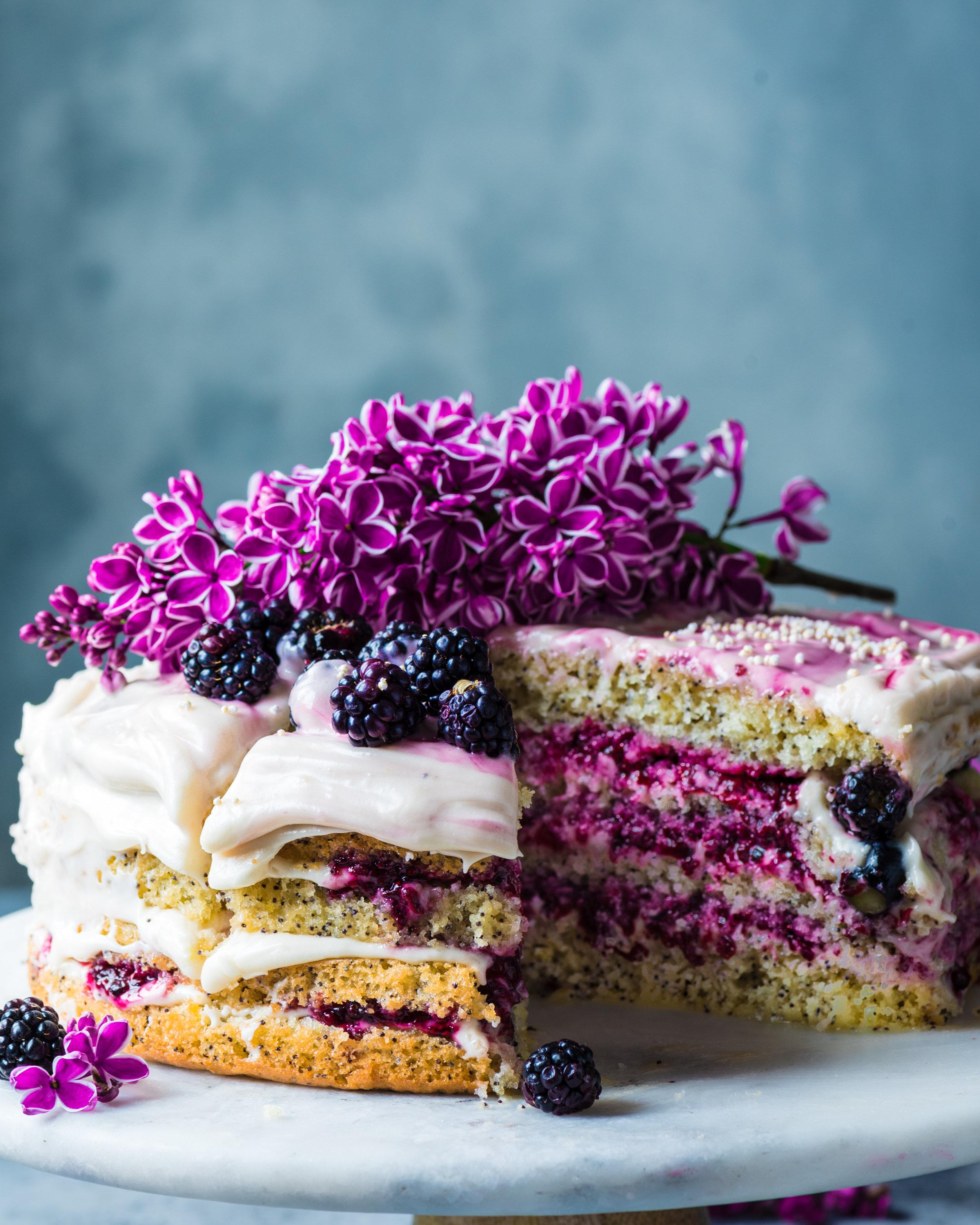Vegan Lemon Poppy Seed Layer Cake