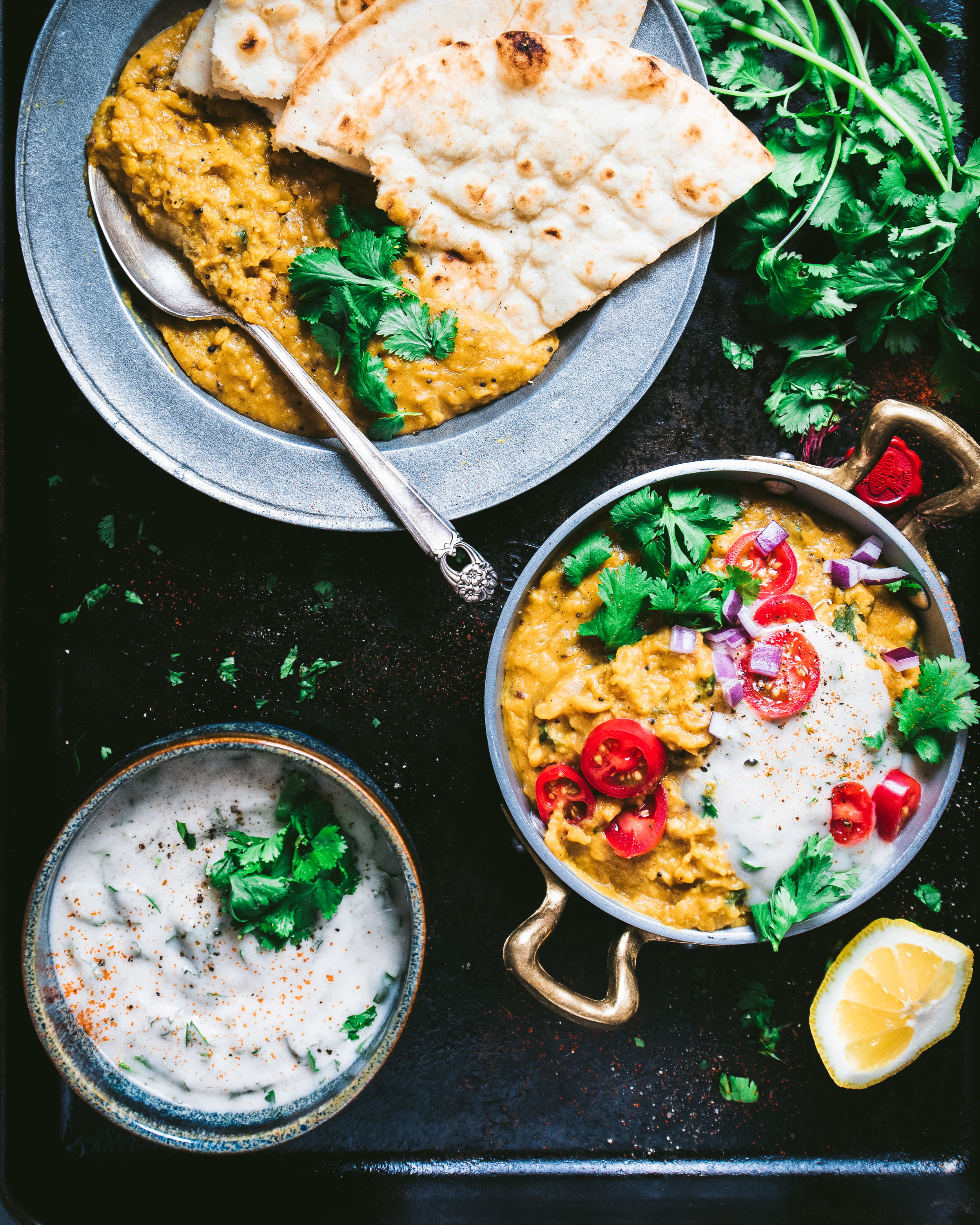 Dal with raita - basket (1 of 1).jpg