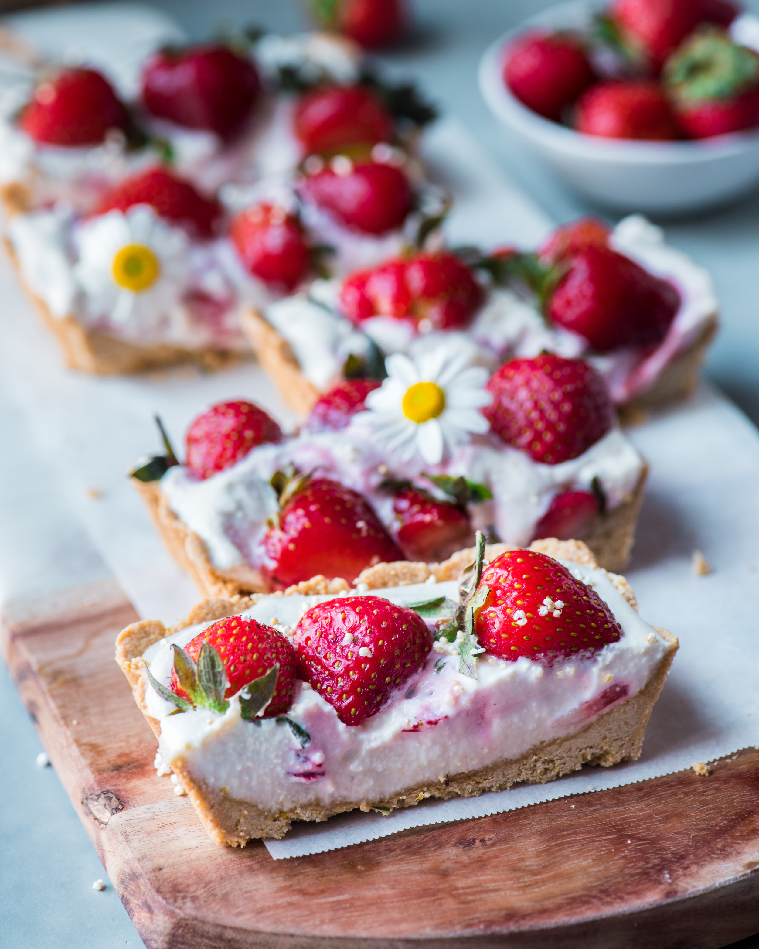 Vegan Strawberries and Cream Tart