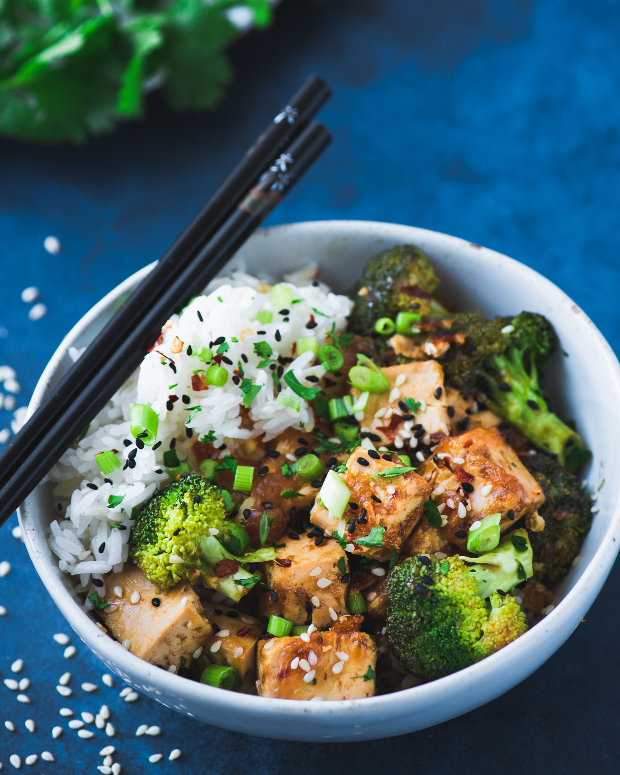 Takeout-Style Tofu and Broccoli. vegan instant pot tofu.