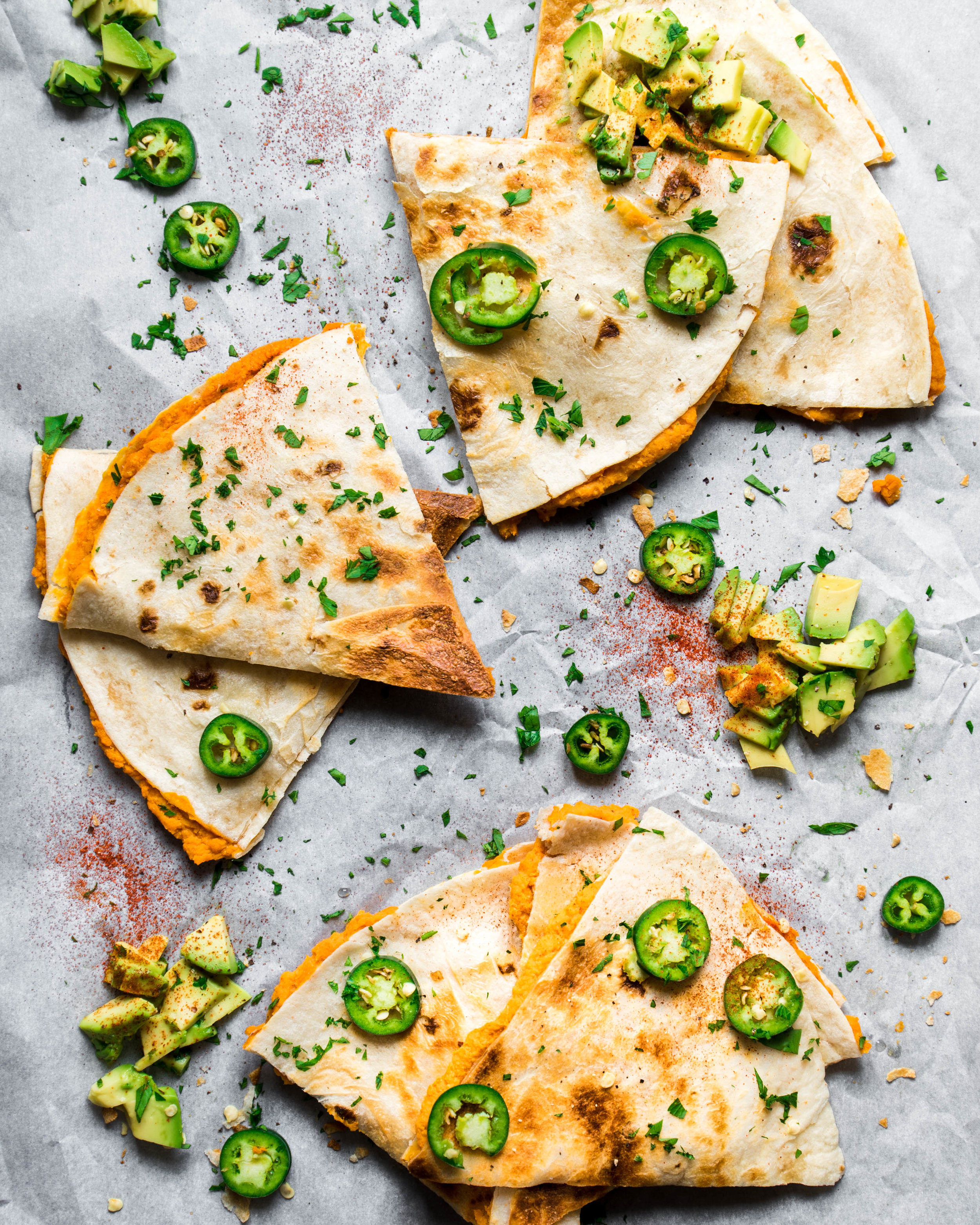 5-Ingredient Vegan Recipes, Sweet Potato Chickpea Quesadillas